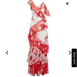 Alicia + Olivia Olympia Layered Maxi Dress
